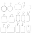 tags set contours vector image vector image