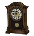 the retro desktop pendulum clock vector image vector image