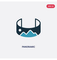 two color panoramic icon from technology concept vector image vector image