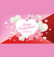 valentines day sale background with flower vector image