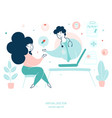 virtual doctor remote medical consultations flat vector image vector image