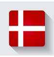 Web button with flag of Denmark vector image vector image