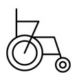 wheelchair line icon simple 96x96 pictogram vector image vector image