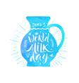 world milk day vector image