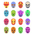 wrestler masks mexican martial fighters sport vector image vector image