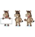 Brown Donkey Mascot happy vector image