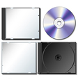 CD case set with CD vector image