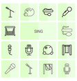 14 sing icons vector image vector image