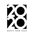 2020 new year design happy logo calendar vector image vector image