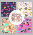 abstract futuristic seamless patterns set vector image