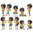 African-American kids vector image vector image