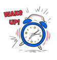 alarm wake up clock ringing in morning hand vector image