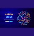 arrow neon banner design vector image vector image