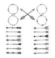 arrow watercolor design elements set vector image vector image