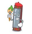 artist harmonica character cartoon style vector image
