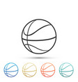 basketball ball icon isolated on white background vector image vector image