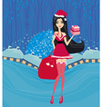 beautiful pin-up girl in Christmas inspired vector image vector image
