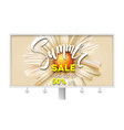 billboard with summer sale banner with handwritten vector image vector image