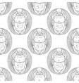 black and white egyptian scarabs seamless pattern vector image vector image