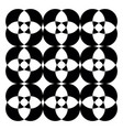 black and white kaleidoscopic pattern or color vector image vector image