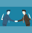 both of businessman betray to each other vector image vector image