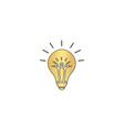 Bulb computer symbol vector image vector image