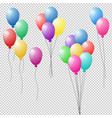bunches and groups of colorful helium balloons vector image