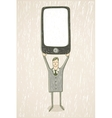 Businessman with mobile phone vector image