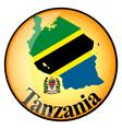 button Tanzania vector image