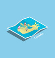 canada explore maps country nation with isometric vector image vector image