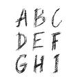 charcoal Font vector image