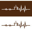 coffee cup icon and electrocardiography icon vector image
