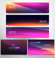 colorful business card and header collection vector image