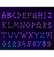 constellation font in space vector image