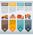 construction items information in infographic vector image vector image
