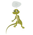cute lizard isolated on white background vector image