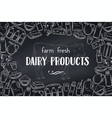 dairy product page design blackboard style vector image