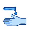disinfection line icon vector image vector image