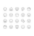 emoji emotions line icons signs set vector image vector image
