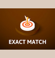 exact match isometric icon isolated on color vector image vector image