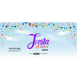 festa junina cover background template design vector image