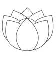 flower icon vector image vector image