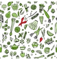 Green vegetables detox Seamless pattern design vector image vector image