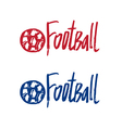 Hand drawn concept logo with text Football vector image vector image