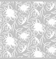 hand drawn gray flower seamless pattern vector image