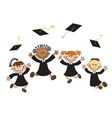happy graduates with vector image