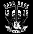 hard rock music poster vector image vector image