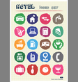 Hotel and service icons set drawn by chalk