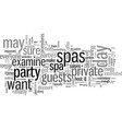 how to plan a private party at a day spa vector image vector image