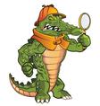 Investigator Gator vector image